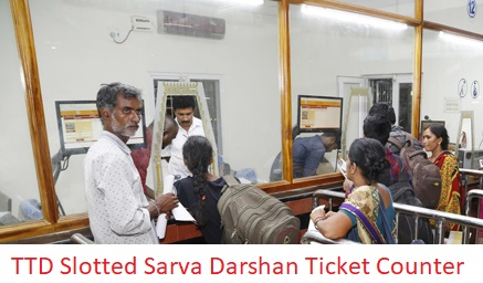 Tirumala TTD Slotted Sarva Darshan Counter